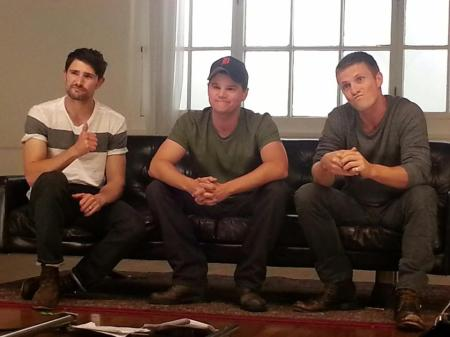 Behind the Scenes of the THUNDER ROAD Promo Shoot (Image Credit: The Thunder Road Facebook Page)