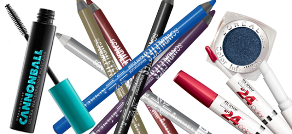 Cannonball Ultra Waterproof Mascara (Image Credit: Urban Decay) / Scandaleyes Eye Liner (Image Credit: Rimmel) / Infallible Eye Shadow (Image Credit: L'Oreal) / SuperStay24 Lipstick (Image Credit: Maybelline)