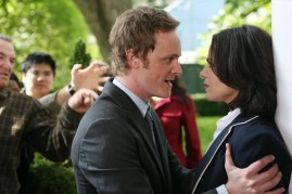 David Anders as Dr. Whale and Lana Parrilla as Regina on ONCE UPON A TIME (Image Credit: ABC/Jack Rowand)
