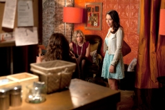 Ashley Benson and Janel Parrish in PRETTY LITTLE LIARS (Image Credit: ABC Family / Adam Rose)