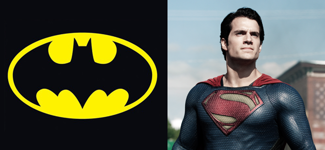 Batman Logo (Image Credit: DC Comics) / Henry Cavill as Superman in MAN OF STEEL (Image Credit: Warner Bros.)