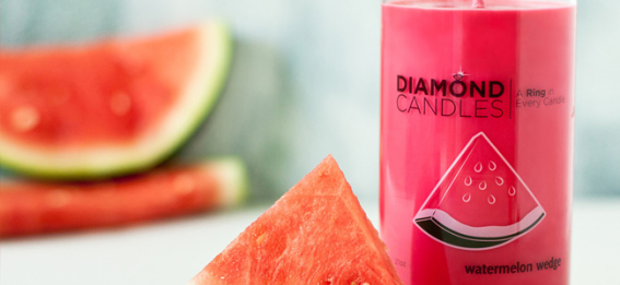 Watermelon Wedge Candle by Diamond Candles (http://www.diamondcandles.com)