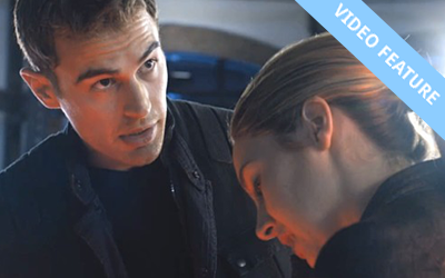 Theo James and Shailene Woodley in DIVERGENT (Image Credit: Summit Entertainment)