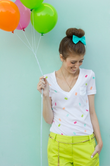 DIY Confetti Shirt (Image Credit: Studio DIY)