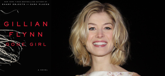 Gone Girl (Image Credit: Gillian Flynn) / Actress Rosamund Pike attends the 'Jack Reacher' Fan Screening (Image Credit: Chung Sung-Jun / 2013 Getty Images)