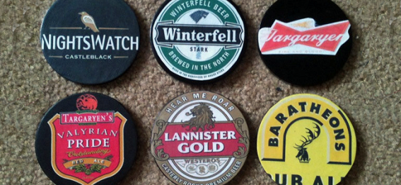 Game of Thrones Coasters by Gorgeous Glassware