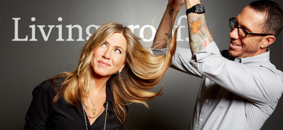 Jennifer Aniston and Chris McMillan for Living Proof (Image Credit: http://www.livingproof.com/)