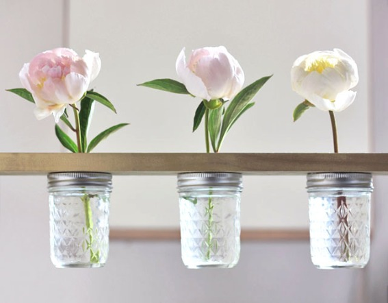 DIY Mason Jar Shelf by With Lovely