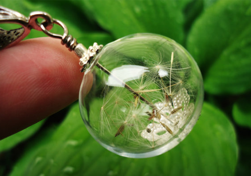 Dandelion Wishing Orb Necklace (Image Credit: Viper Corara)