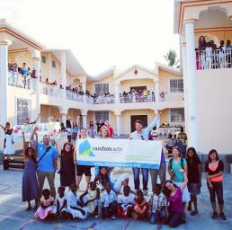 Misha Collins with Random Acts in Haiti (Image Credit: Random Acts)
