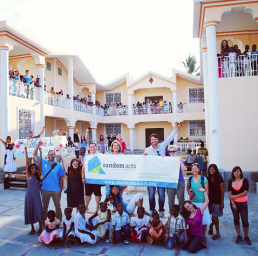 Misha Collins with Random Acts in Haiti (Image Credit: Random Acts)