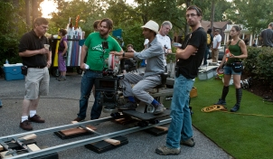 Director James Ponsoldt and the crew of THE SPECTACULAR NOW (Image Credit: A24 Films)