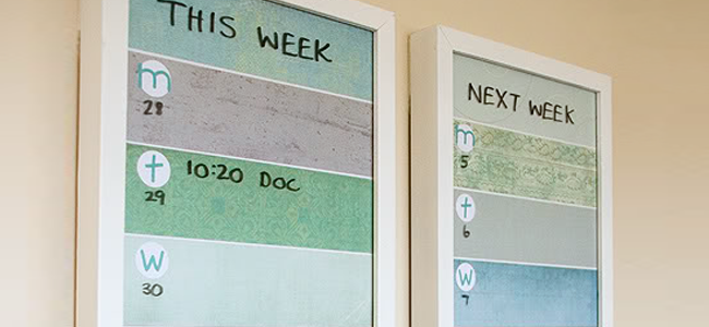 DIY This Week/Next Week Frame Planner (Image Credit: A Thousand Words)