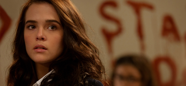 Zoey Deutch as Rose Hathaway in VAMPIRE ACADEMY: BLOOD SISTERS (Image Credit: Laurie Sparham / The Weinstein Company)