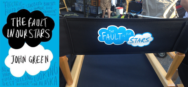 THE FAULT IN OUR STARS Book Cover and Set Shot (Image Credit: John Green / Instagram)