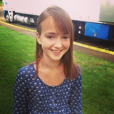 Lily on the set of THE FAULT IN OUR STARS (Image Credit: John Green / Instagram)
