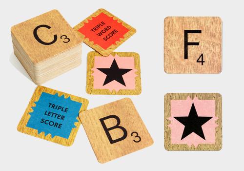 Scrabble Coaster Set (Image Credit: Fred Flare)