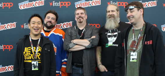 Kevin Smith and the cast of COMIC BOOK MEN (Image Credit: Sean Torenli / The Daily Quirk)