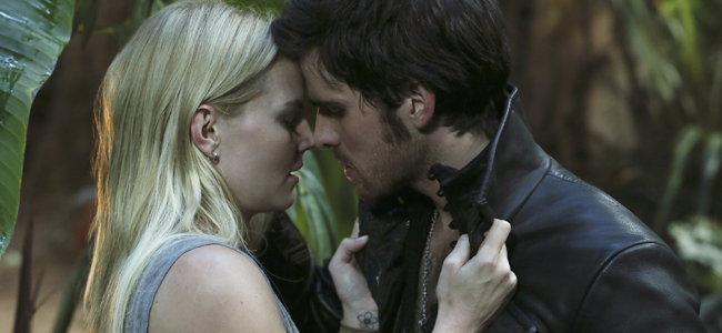 Jennifer Morrison as Emma Swan and Colin O'Donoghue as Hook in ONCE UPON A TIME (Image Credit: Jack Rowand / ABC)