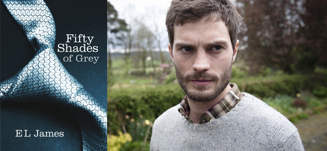 Fifty Shades of Grey (Image Credit: EL James) / Jamie Dornan in THE FALL (Image Credit: BBC)
