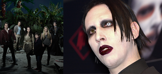 ONCE UPON A TIME (Image Credit: ABC) / Marilyn Manson (Image Credit: Jason H Smith)