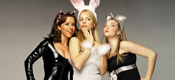 Lacey Chabert as Gretchen Wieners, Rachel McAdams as Regina George and Amanda Seyfried as Karen Smith in MEAN GIRLS (Image Credit: Paramount Pictures)