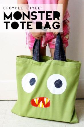 DIY Monster Tote Bag (Image Credit: My Poppet)