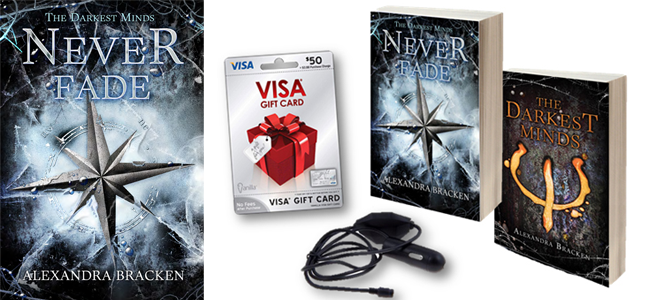 Never Fade (Image Credit: Alexandra Bracken / Roadtrip Prize Pack (Image Credit: Disney Book Group)