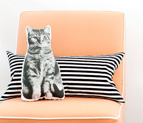 DIY Pet Pillow (Image Credit: Yellow Brick Home)