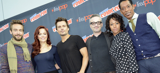 Tim Mison, Katia Winter, Len Wiseman, Alex Kurtzman, Nicole Beharie and Orlando Jones for SLEEPY HOLLOW (Image Credit: Laura Thompson/FOX)