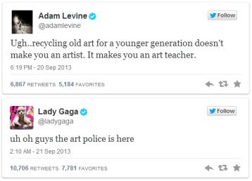 (Image Credit: Adam Levine's & Lady Gaga's Twitter)