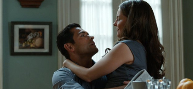 Mark Consuelos And Yara Martinez In ALPHA HOUSE (Image Credit: Amazon  Studios)