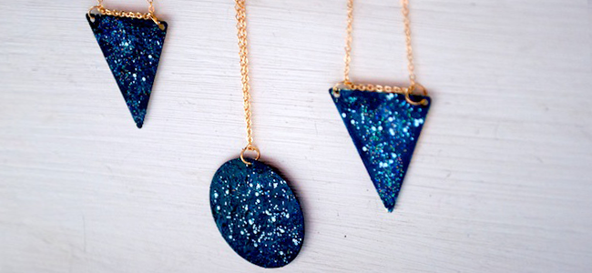 DIY Galaxy Necklace (Image Credit: Oh the Lovely Things)