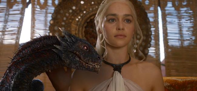 Emilia Clarke as Daenerys Targaryen in GAME OF THRONES (Image Credit: HBO)