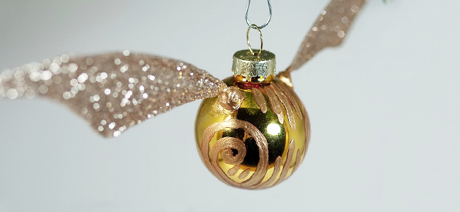 DIY Golden Snitch Ornament by Tiny Apartment Crafts