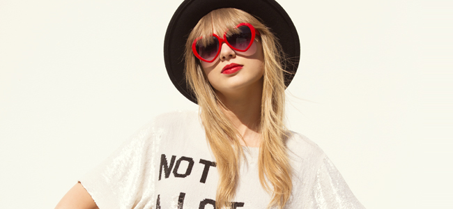 """Taylor Swift in the music video for """"22"""" (Image Credit: Big Machine Records)"""