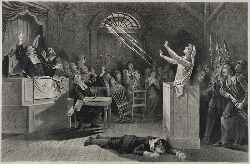 """The witch no. 1"" lithograph (Image Credit: Joseph E Baker / United States Library of Congress)"