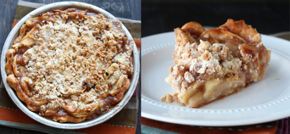 Caramel Apple Streusel Pie (Image Credit: Handle the Heat)