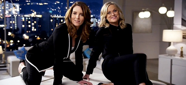 Tina Fey and Amy Poehler for the GOLDEN GLOBE AWARDS (Image Credit: NBC)