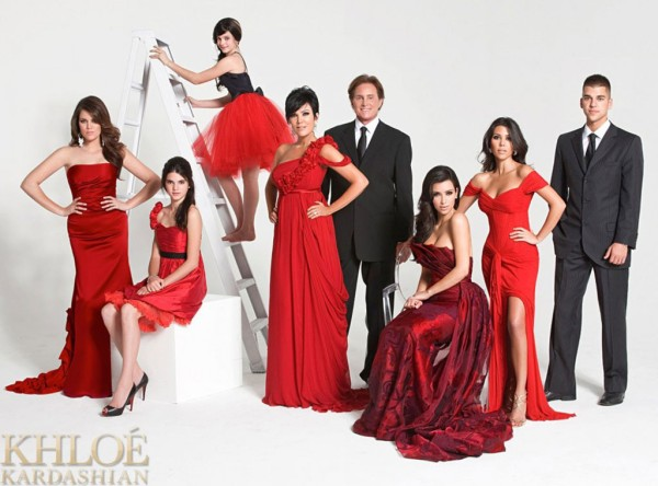 Kardashian Family Holiday Card 2008 (Image Credit: Khloe Kardashian)