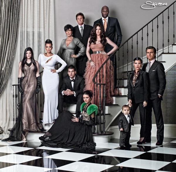 Kardashian Family Holiday Card 2010 (Image Credit: Nick Saglimbeni)