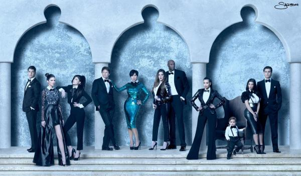 Kardashian Family Holiday Card 2011 (Image Credit: Nick Saglimbeni)