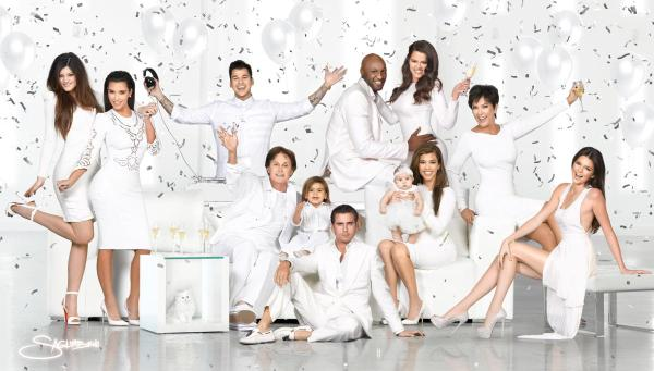 Kardashian Family Holiday Card 2012 (Image Credit: Nick Saglimbeni)