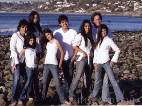 Kardashian Family Holiday Card (Image Credit: The Kardashians)
