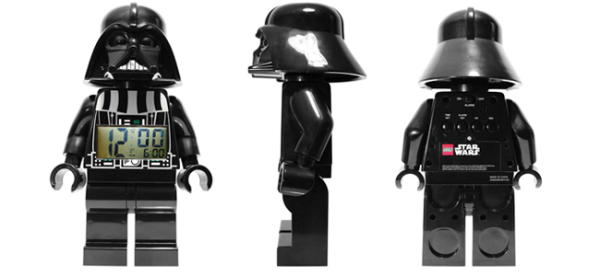 LEGO® Star Wars™ Darth Vader Minifigure Clock (Image Credit: LEGO)