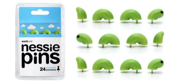 Nessie Push Pins (Image Credit: SUCK UK)