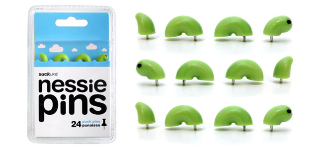 Nessie Push Pins (Image Credit: SUCK UK)