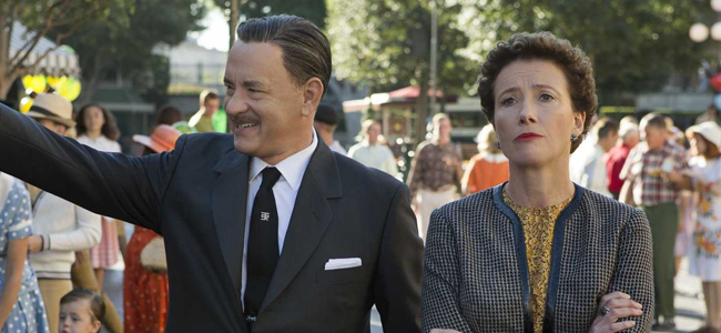 Tom Hanks and Emma Thompson in SAVING MR. BANKS (Image Credit: Walt Disney Pictures)