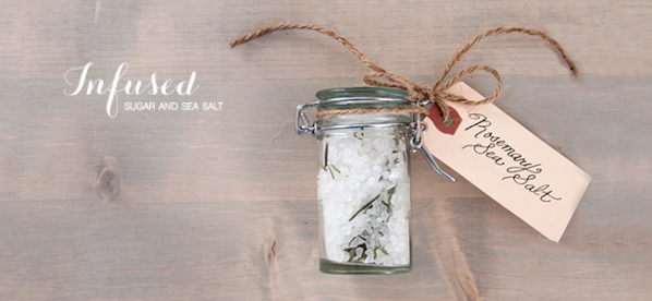 DIY Infused Sugar and Sea Salt (Image Credit: House of Earnest)