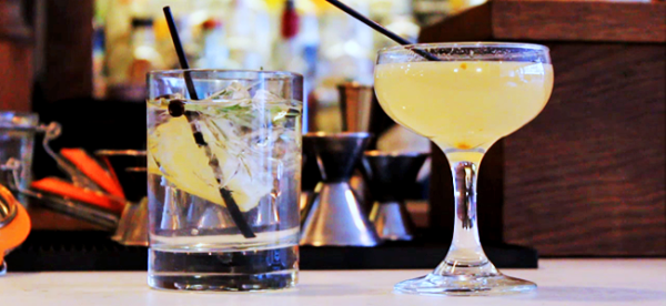 Gin & Tonic and Bee's Knees Cocktail by The Winslow (Image Credit: Sean Torenli / The Daily Quirk)